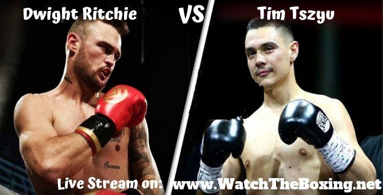 Tim Tszyu Vs Dwight Ritchie Live Stream