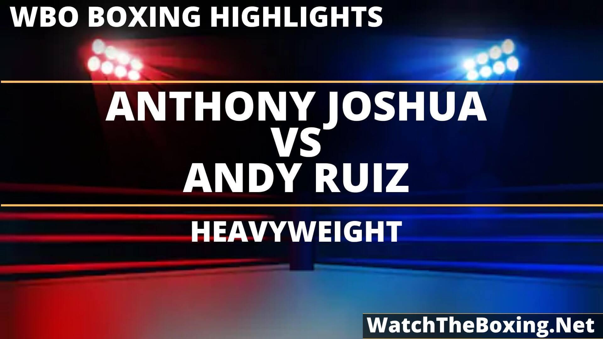 Anthony Joshua Vs Andy Ruiz Highlights 2019
