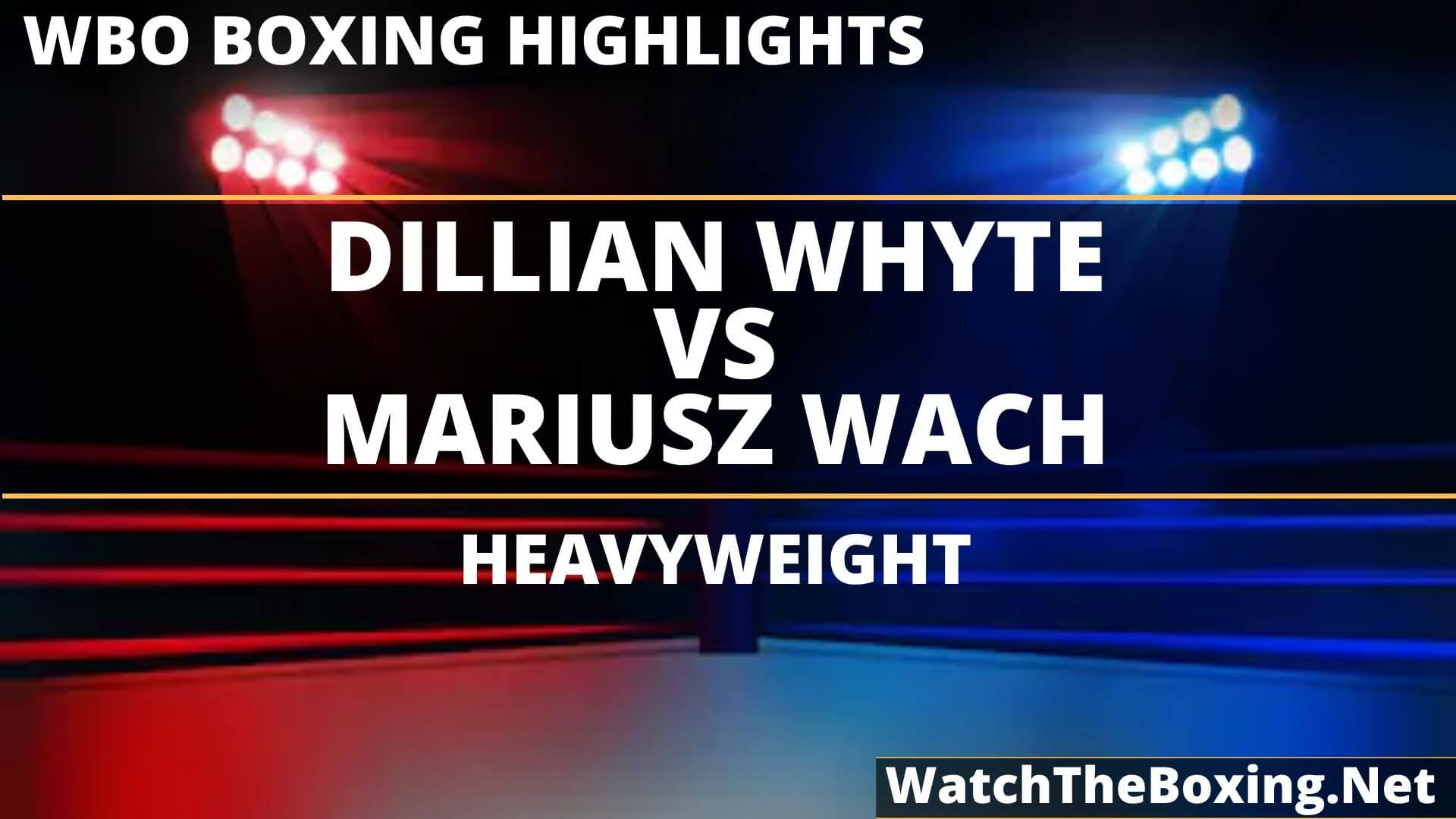 Dillian Whyte Vs Mariusz Wach Highlights 2019