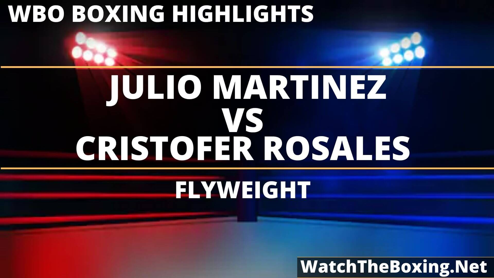 Julio Martinez Vs Cristofer Rosales Highlights 2019