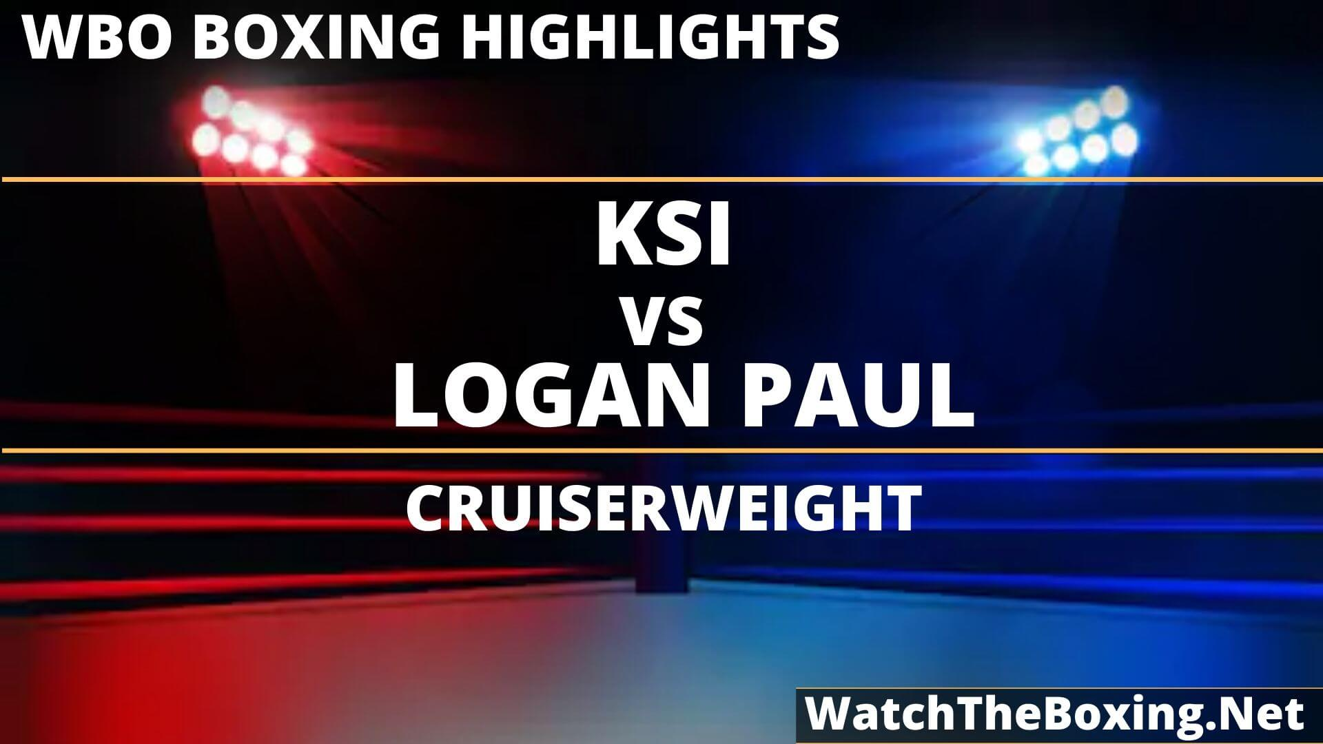 KSI Vs Logan Paul Highlights 2019