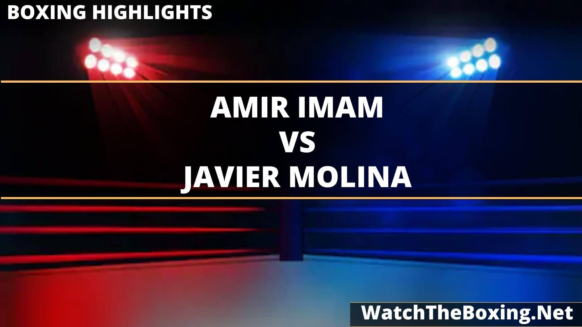 Amir Imam Vs Javier Molina Highlights 2020