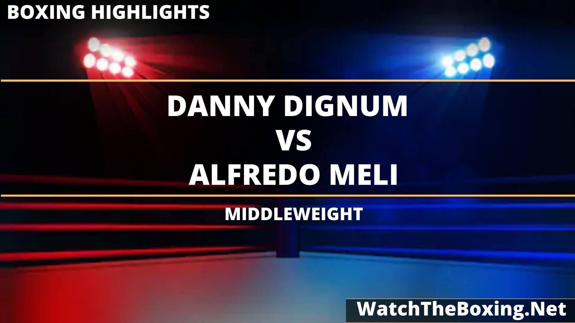 Danny Dignum Vs Alfredo Meli Highlights 2020 Middleweight