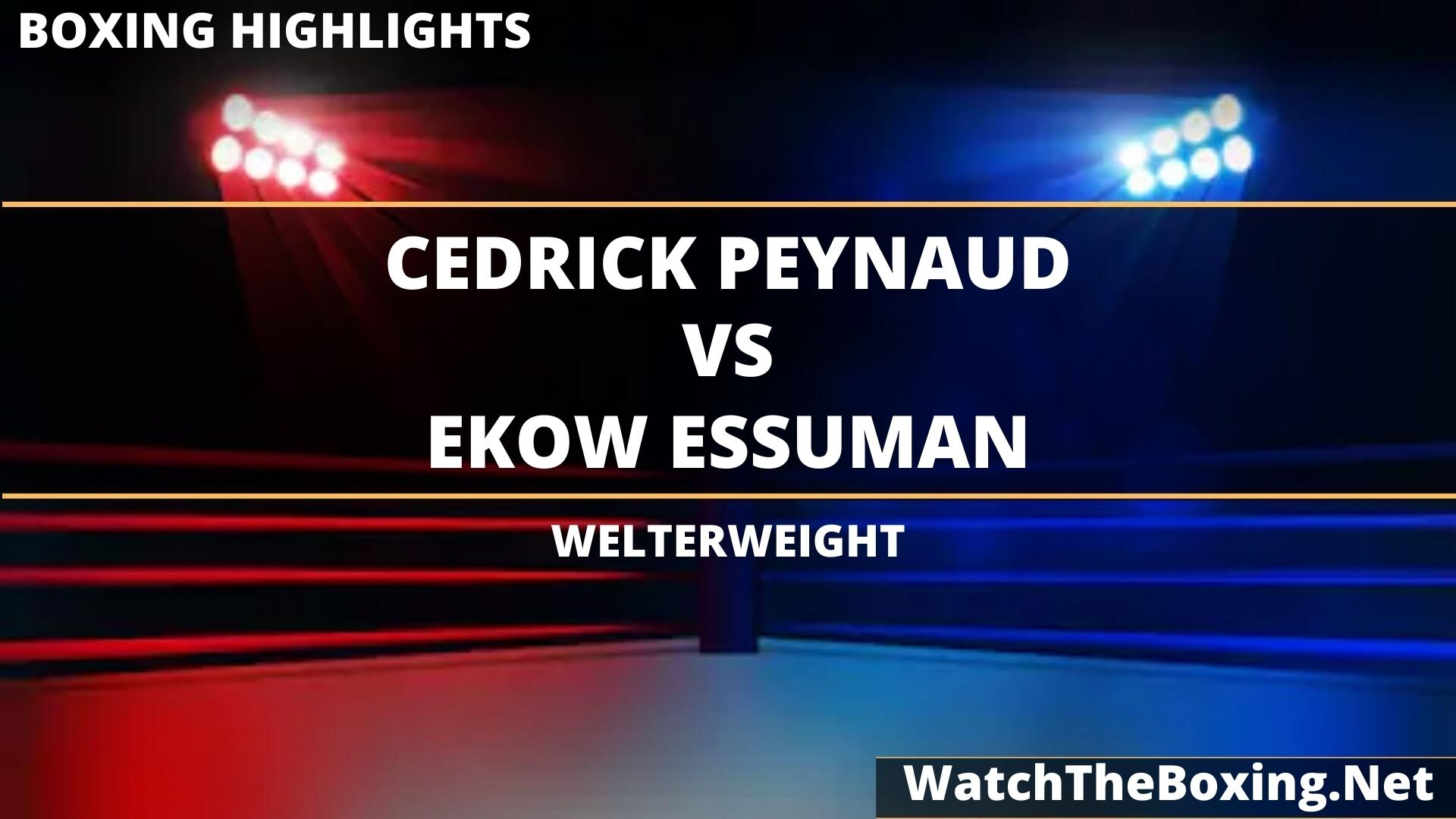 Cedrick Peynaud Vs Ekow Essuman Highlights 2020 Welterweight