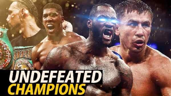 2018 Boxing Undefeated Champions
