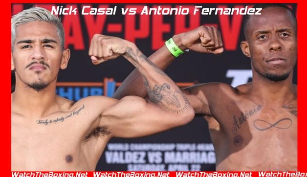 Nick Casal vs Antonio Fernandez Live On Tv