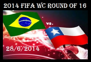 Brazil vs Chile fifa wc 2014