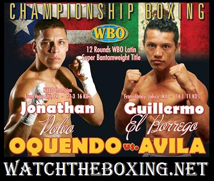 Jonathan Oquendo vs Guillermo Avila