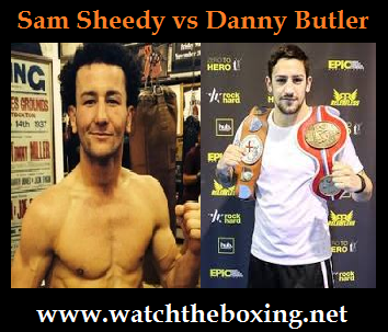Live Boxing Sam Sheedy vs Danny Butler April 2016